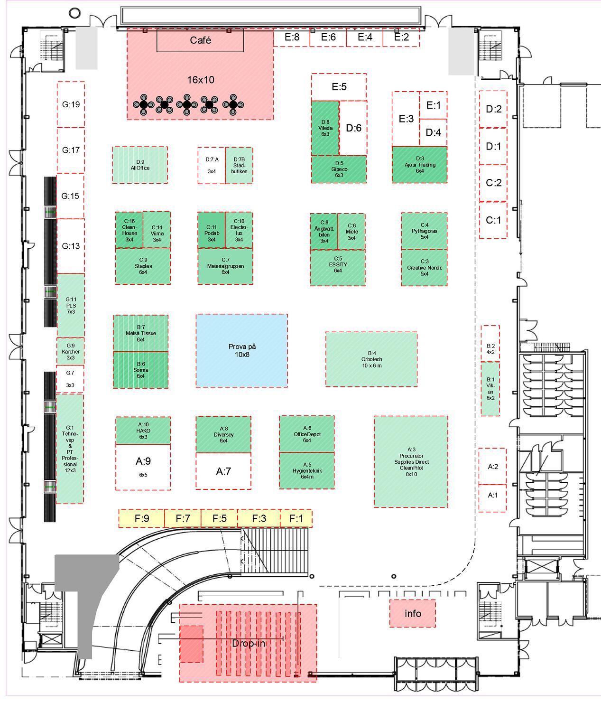 Örebro  16-17 Oktober  hall overview