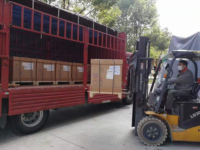Brådskande behov: våra vakuumpumpar har levererats till de nybyggda sjukhusen i Wuhan, där patienter som är infekterade av coronaviruset behandlas. Källa: Busch Vacuum (Shanghai) Co.