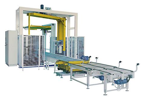 Unitech - Fuldautomatisk omvikler, Omvikler, Uniwrap, Palleomviklere, Palleomvikling, Produktionslinje, Emballeringsudstyr