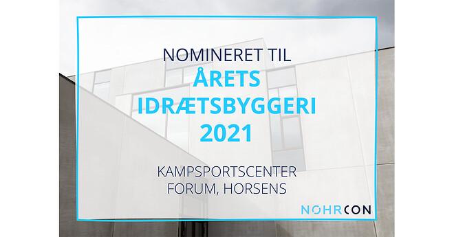 Kampsportcenter Forum nomineret til årets idrætsbyggeri 2021