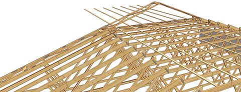 Afstivning af tagkonstruktioner med store spær