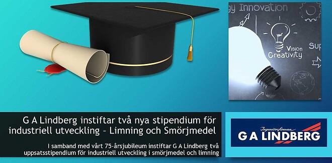 G A Lindberg instiftar stipendium