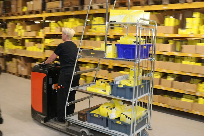 Triscan - Effektiv plockning av små order med våra nya el-fordon