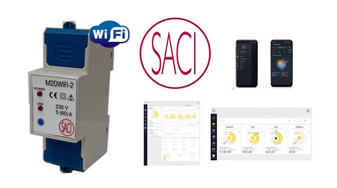 1-faset kWh-måler med WIFI til fjernaflæsning- og styring