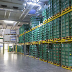 Omorganiseringen af lageret betyder, at Arla kan håndtere 85 % flere paller på den samme plads