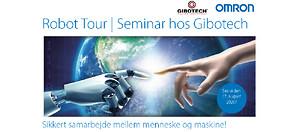 Gibotech og Omron Robot Tour