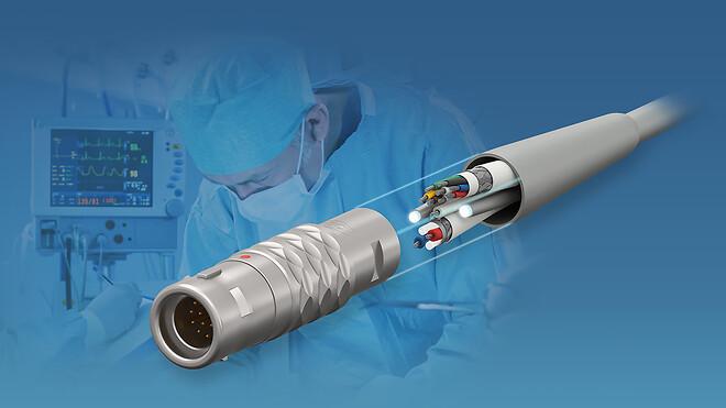 medicinteknik, kontaktdon, kablage, övergjutning, ISO10993