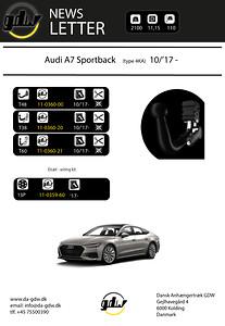 Audi A7 Sportback Dragkrok t60 system og fast