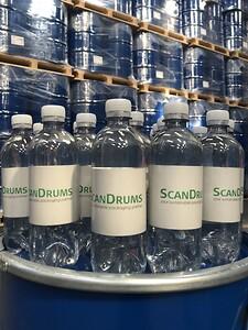 ScanDrums vandflaske i 100 % genbrugsplast