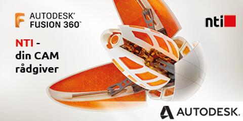 NTI tilbyr kurs i CAM og Fusion 360 - Autodesk Fusion 360