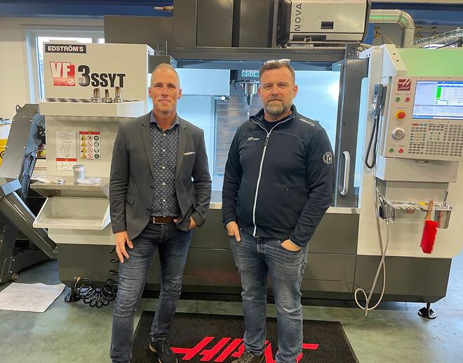 Fredrik Salomonsson, Edströms Maskin och Peter Thomsen, chef verktygsavdelningen på MP Bolagen Industri