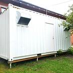 En smidig och flyttbar container som inkluderar all utrustning.