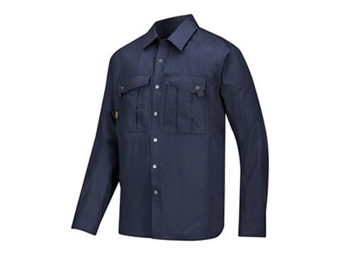 Skjorte rip-stop navy - str. l
