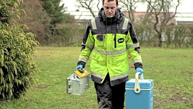 DMR feltfolk klar med specialudstyr som automatiske sugeceller til udtagning af vand fra umættet zone