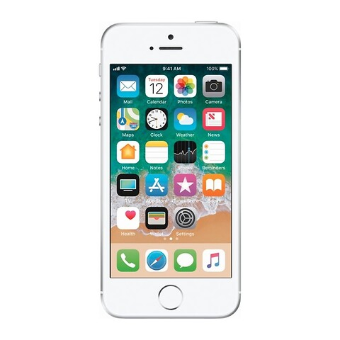 Apple iphone se 16GB (sølv) - grade b - mobiltelefon
