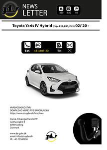 Toyota Yaris Hybrid MY20 aftageligt anhængertræk fra Dansk Anhængertræk GDW