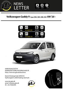 VW Caddy V fast og aftageligt anhængertræk fra Dansk Anhængertræk GDW
