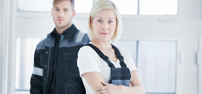 Arbejdstøj, sikkerhed, flammehæmmende, overalls, reflekser