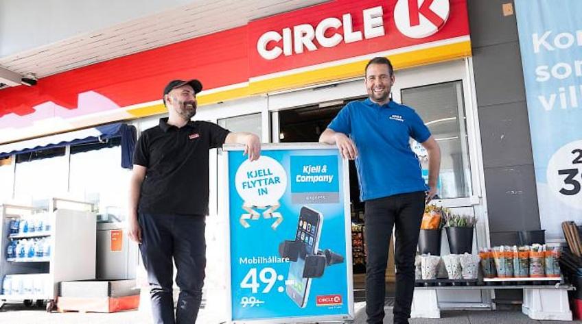 Kjell & Company i samarbete med Circle K – flyttar in på macken