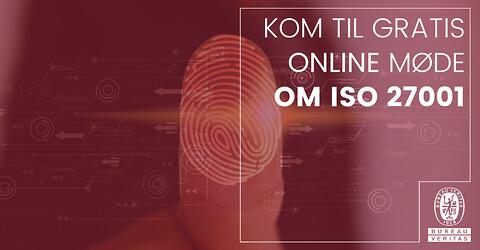 Gratis online møde om ISO 27001