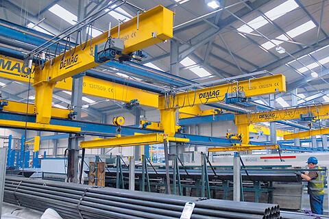 Väggmonterade konsolkranar EKWK upp till 6,3 ton