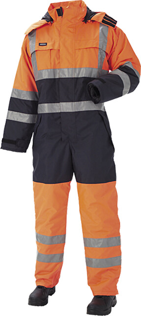 Outlet - termokedeldragt, hi-vis, kl. 3, 11134 - orange/marine