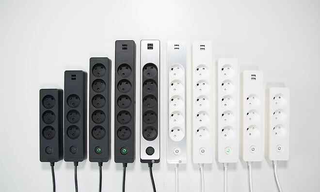 LK designstikdåser fra Lauritz Knudsen by Schneider Electric