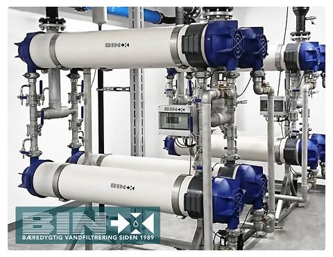 Bæredygtig ultrafiltrering af koldt- og varmt brugsvand - Bin-X, ultrafiltrering, vandfiltrering, membranfiltrering, bæredygtigt, legionellabekæmpelse