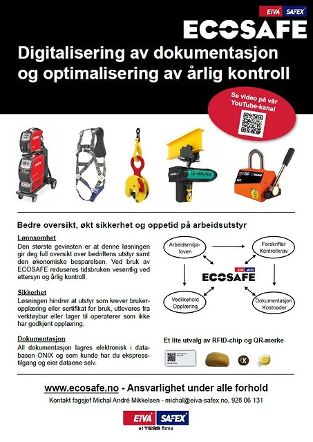 ECOSAFE - Digitalisering av dokumentasjon og optimalisering av årlig kontroll