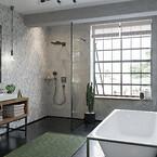 hansgrohe badeværelse i børstet sort krom
