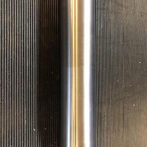 Færdig aksel med påsprøjtet hårdmetal.