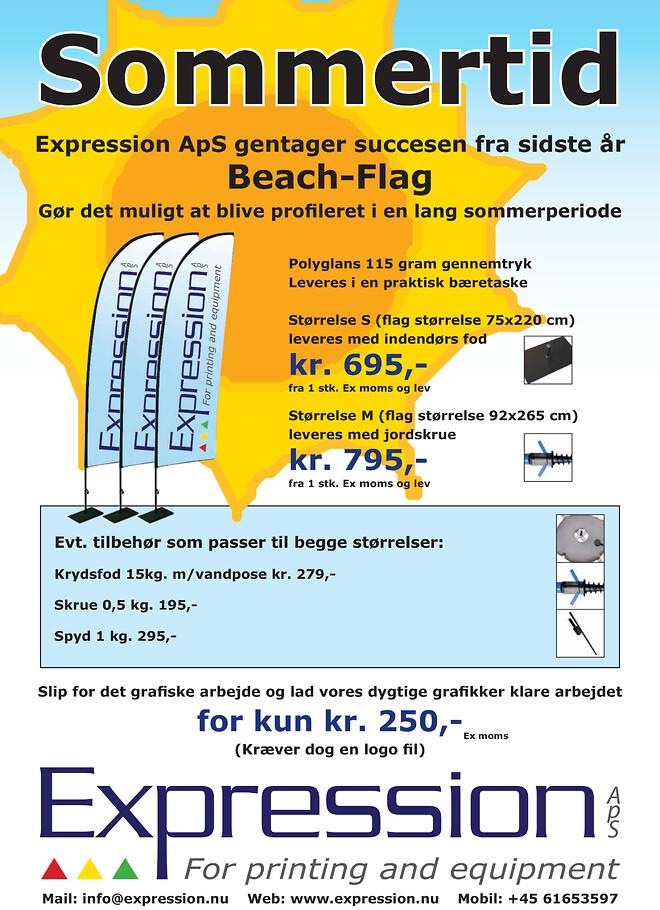 Godt tilbud på beach-flag