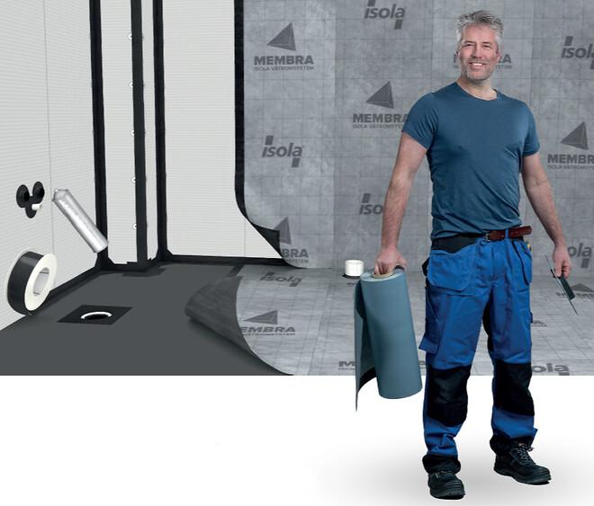 MEMBRA® Isola Vådrumssystem - Selvklæbende membransystem til væg og gulv