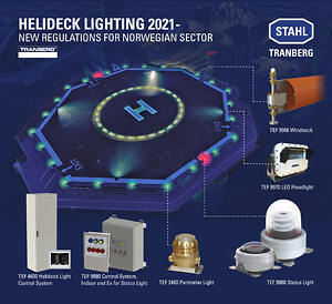 New regulations for norwegian sectors for helideck lighting