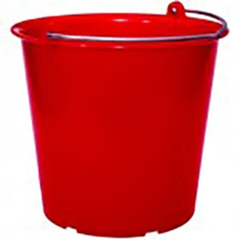 Plastspand 12 l. m/rustfri hank - rød
