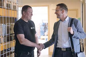 Gode personlige realtioner mellem Nislev Maskinfabrik og Leasing Fyn