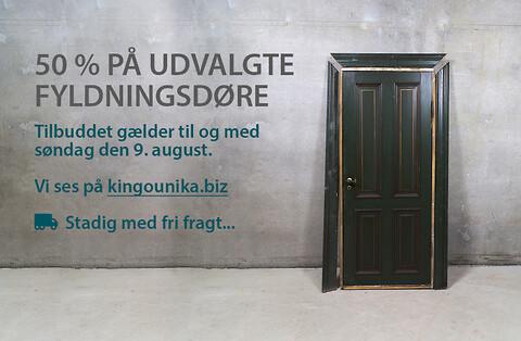 Kingo Unika har 50 % på udvalgte unikke fyldningsdøre
