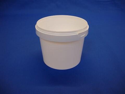Plastbøtte 5030 - 1000 ml.- hvid