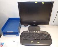 new concept 6f281 d28d8 Computerskærm viewsonic samt tastatur