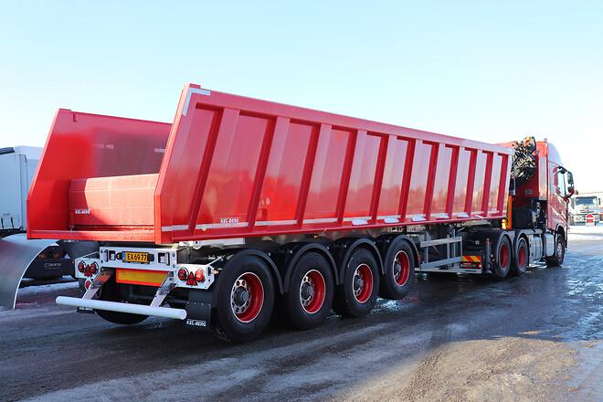 Kel-Berg 4 akslet Hardox tiptrailer 37 m3  fra Lastas