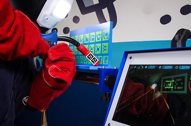 Simulerad svetsning, AR, augmented reality
