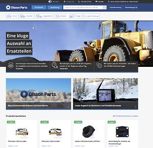 Olsson Parts öppnar e-handel i Tyskland för utrustning och reservdelar till entreprenadmaskiner och traktorer.