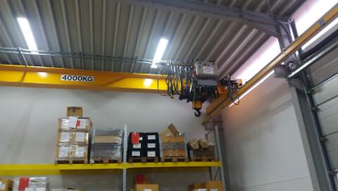 Brugt traverskran 4 ton kone x 14,5 mtr spænd  sælges