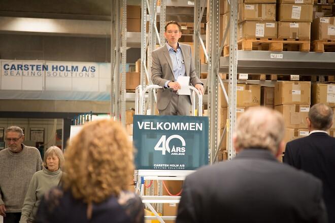 40 års jubilæum hos paknings- og tætningsspecialisten - Carsten Holm A/S