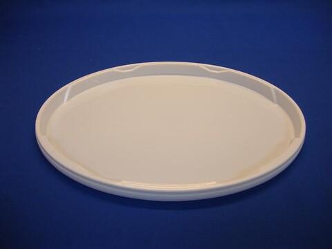 Oval plastlåg DOEP15-19000 - 390x300 mm. - hvid