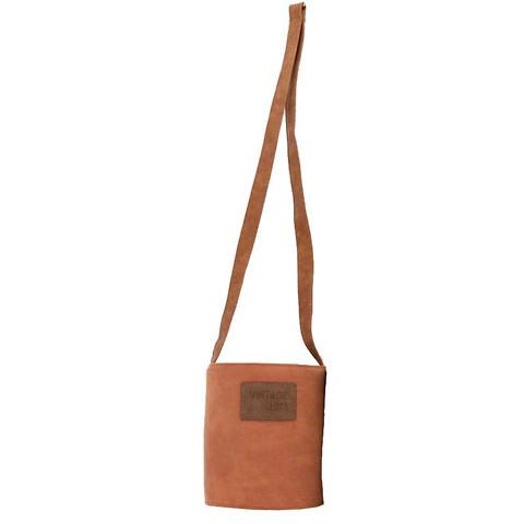Pottehænger i læder, Ø13,5cm, cognac