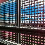 RMIG tillhandahöll en kolossal 4665 m2 perforerad galvaniserad plåt till fasaden