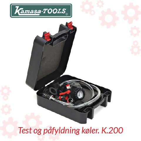 Test og påfyldning køler. K.200