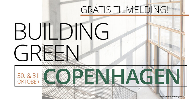 Tilmeld dig Building Green og vær med i det bæredygtige fællesskab.