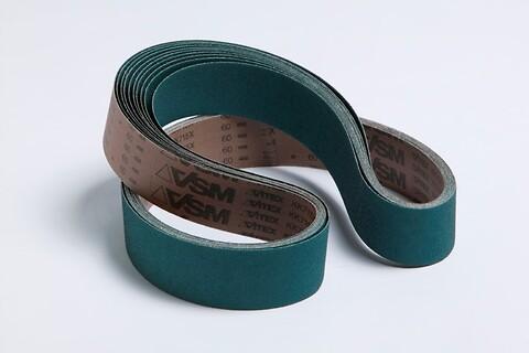 VSM zirkon slibebånd til stål og rustfrit stål - Zirkon, slib, slibebånd, korn, standtid,